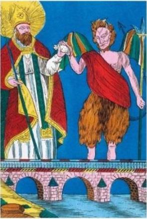 St Cadoc y el gato