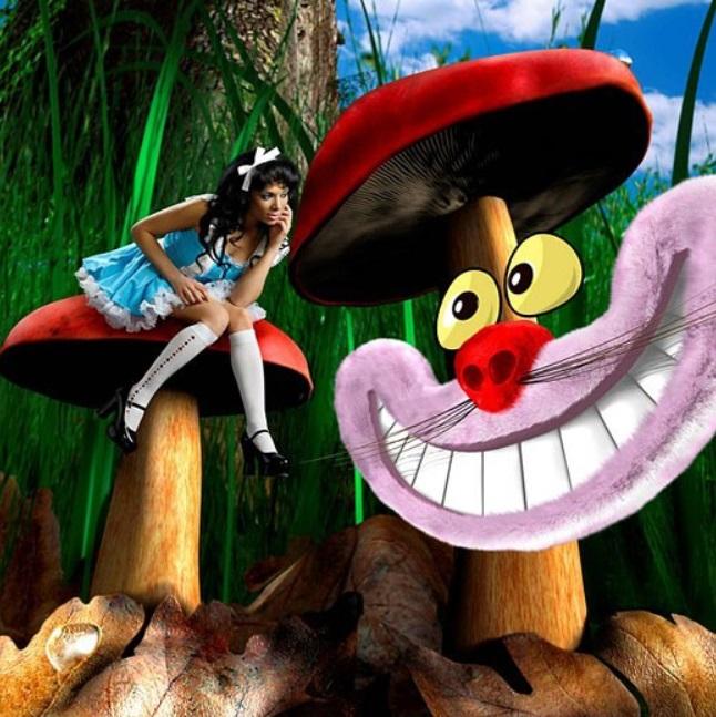 Sonrisa de gato de Cheshire